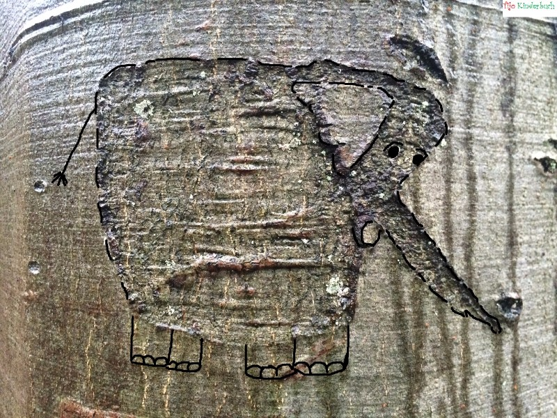 Baum elefant, treeart