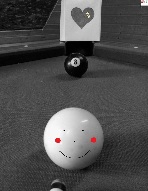 love pic, Billard