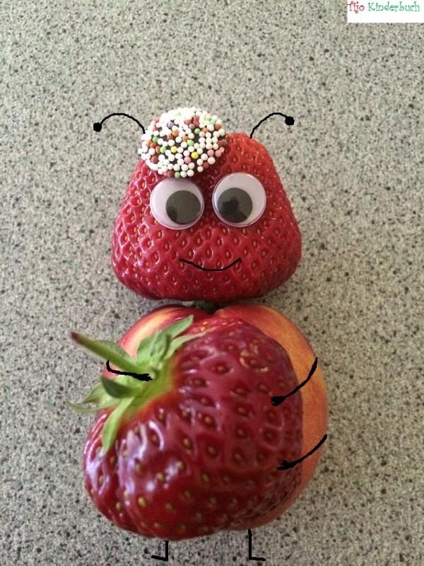 süßer Erdbeerkäfer