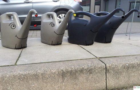 gas station elephants