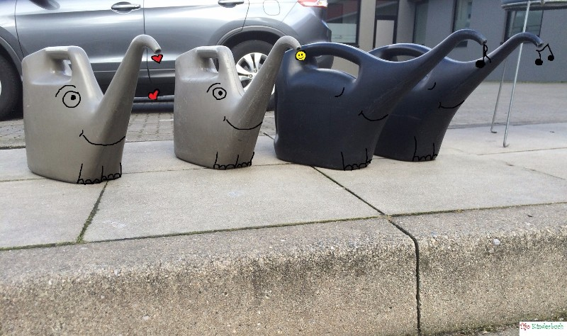 gas station elephants