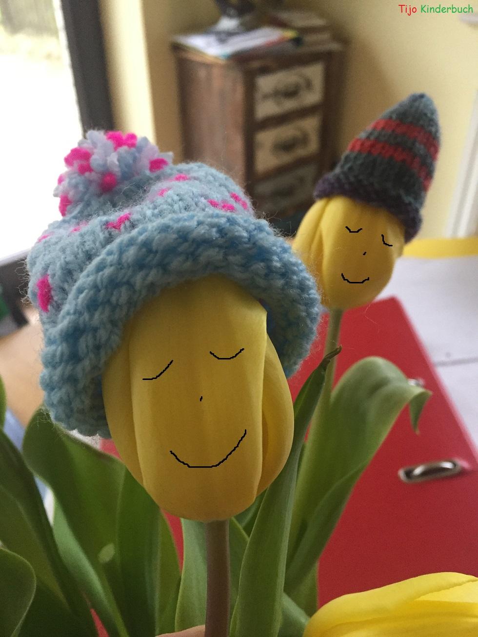 Tulpen mit Mütze