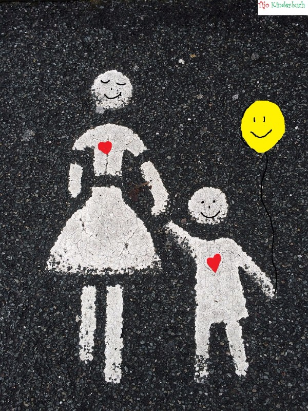 Ikea street art Mutter und Kind