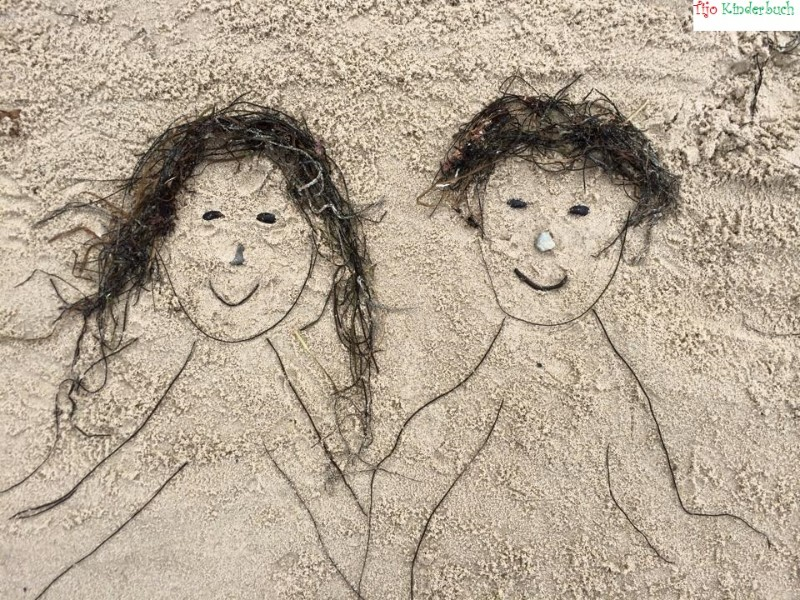 beach art, Strandpaar