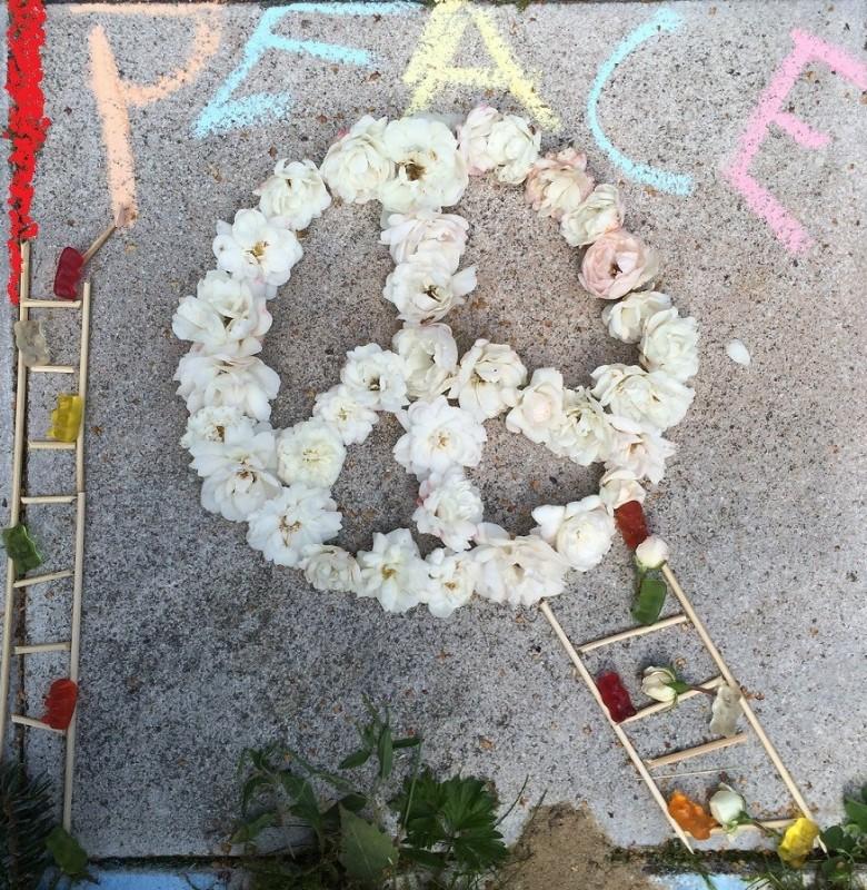 Peace, flowerart