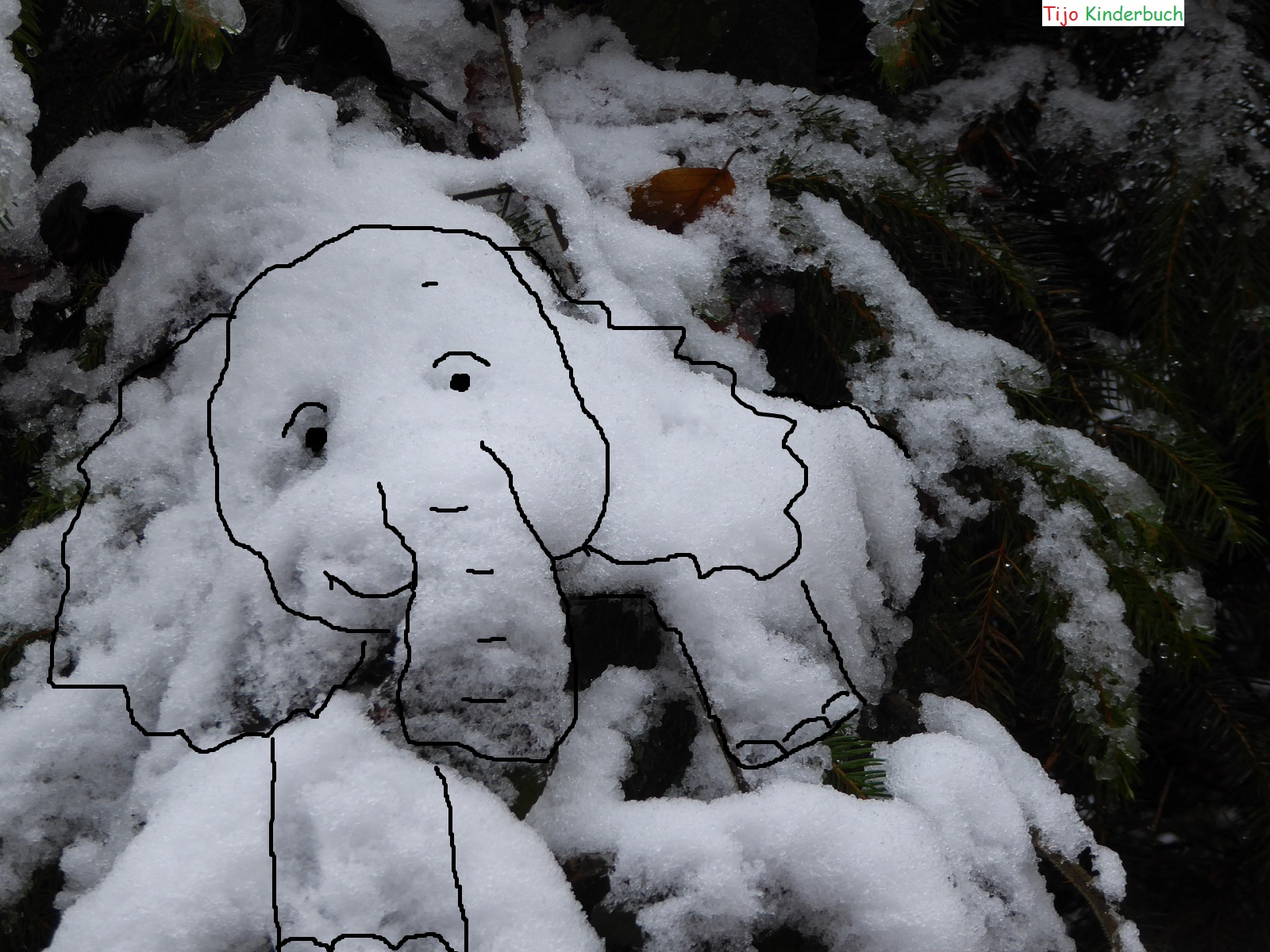 Schnee elefant