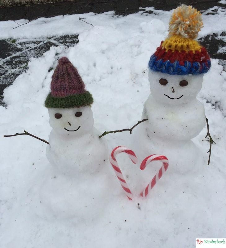 Schneemänner mit Herz