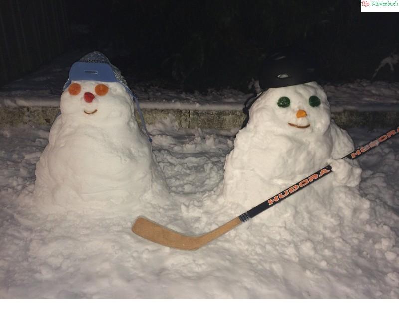 Icehockey Schneemänner