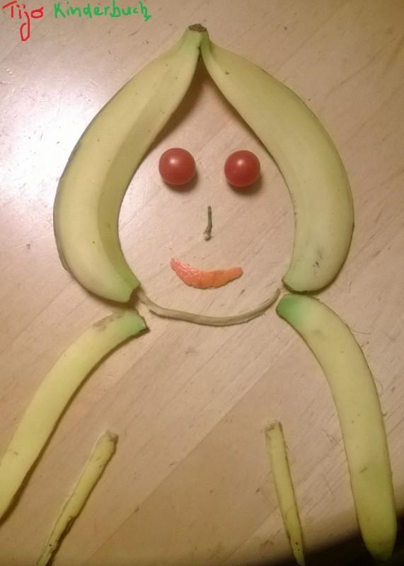 Bananenschalen Dame