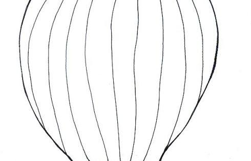 heißluftballon ausmalbild