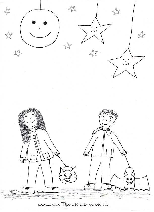 Ausmalbild Laterne Tijo Kinderbuch Kindertheater
